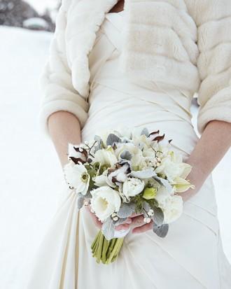 Une décoration de mariage hivernale