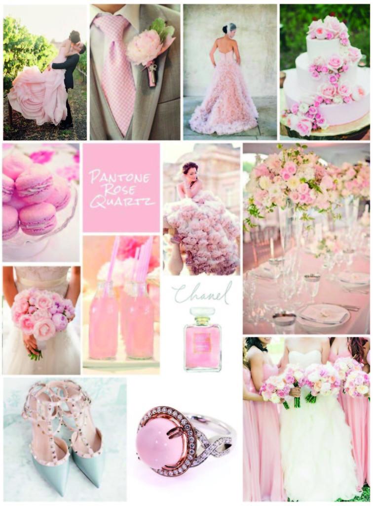 Serenity et rose quartz seront les couleurs tendance pour votre mariage en 20 - Tendance deco mariage ...